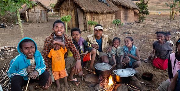 Leute in Madagascar